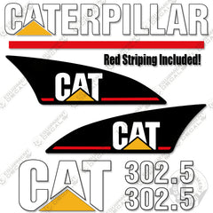 CAT 305.5DCR Decals Stickers repro Kit Decals