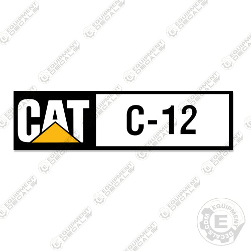 Caterpillar C12 Diesel Engine Decal