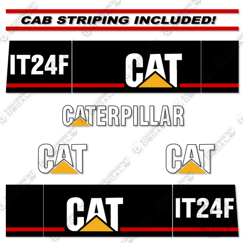 Caterpillar It24f Decal Kit Wheel Loader Equipment Decals