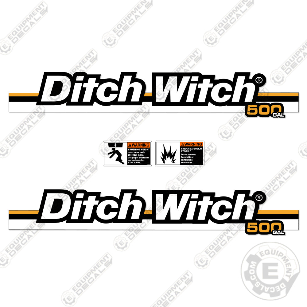 Ditch Witch FX 30 (500 Gallon) Tank Decals