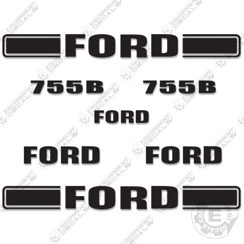 Ford 755B Decal Kit Backhoe