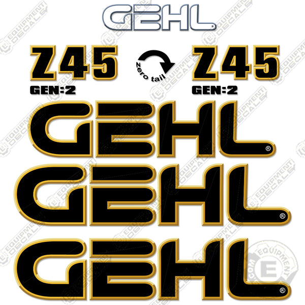 Gehl Z45 Decal Kit Compact Excavator Equipment Decals