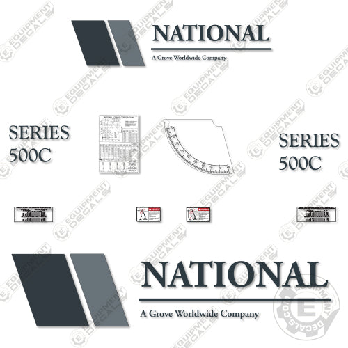 National 500C Boom Crane Decal Kit