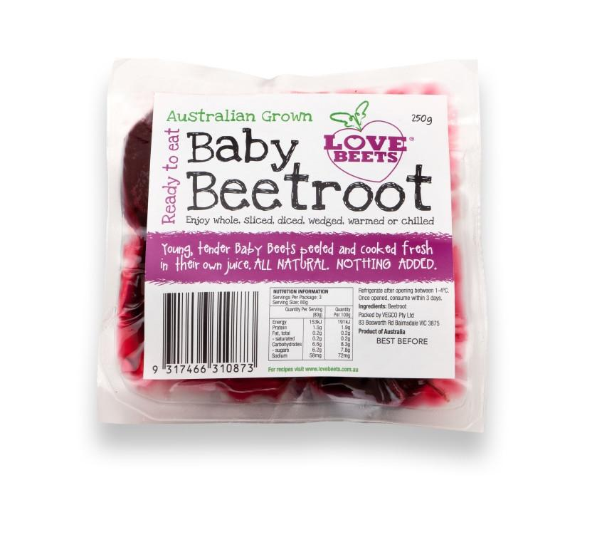 Beetroot - Fresh, Peeled and Cooked 250g