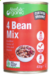Canned Four Bean Mix 400g