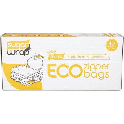 Eco Zipper Bags - Small 40pk
