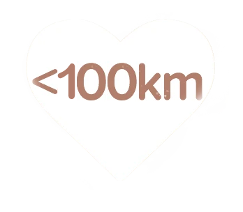 less than 100km