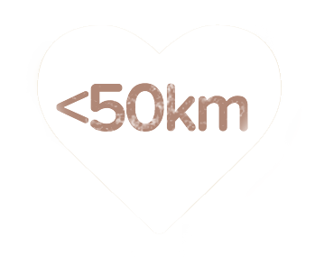 less than 50km