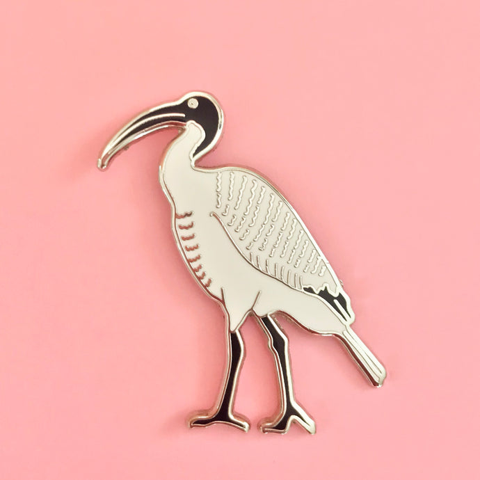 Enamel Pin - White Ibis