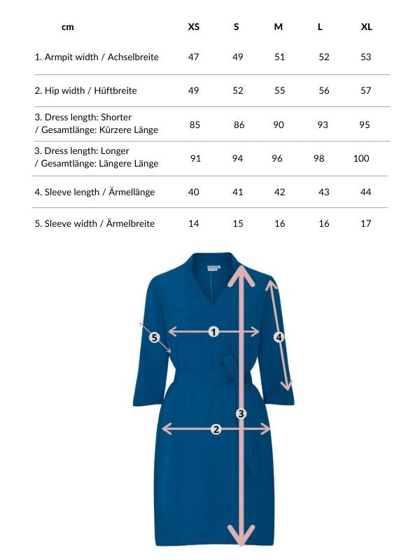 Alexandra | Collared Dress in Royal Blue with V neck and optional belt
