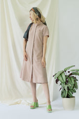 Isabel | Wrap Dress with balloon sleeves in Aperol