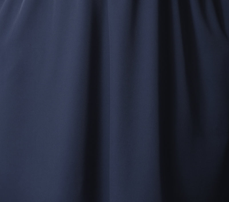 Navy blue delicate and soft fabric