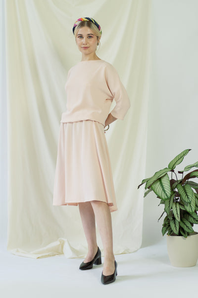 Anahit   Drapey Dress In Soft Pink