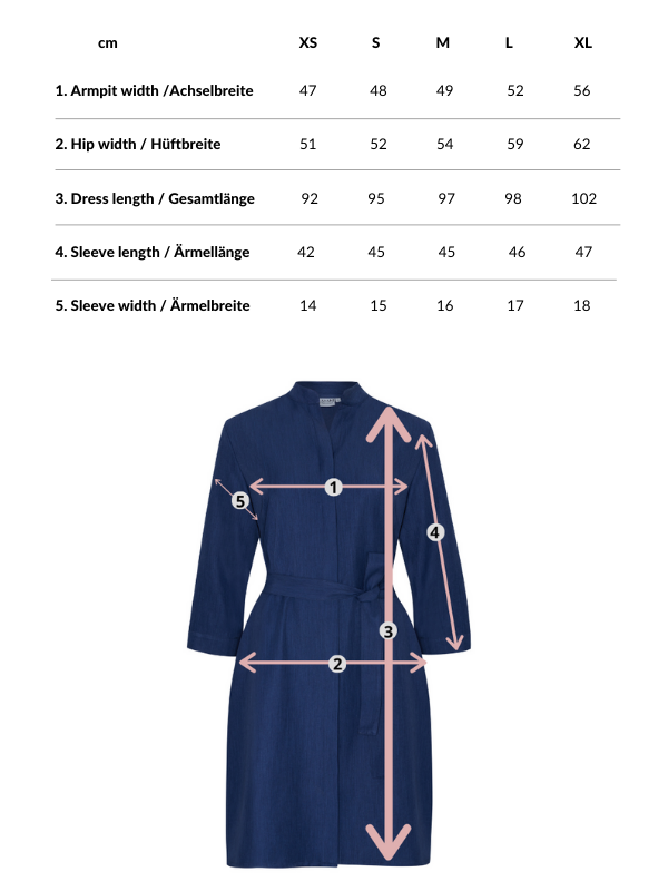 Narine | Shirt Dress in Classic Blue