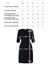 Catherine | Dress in Anthracite with optional belt