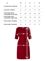 Catherine | Dress in Bordo with optional belt