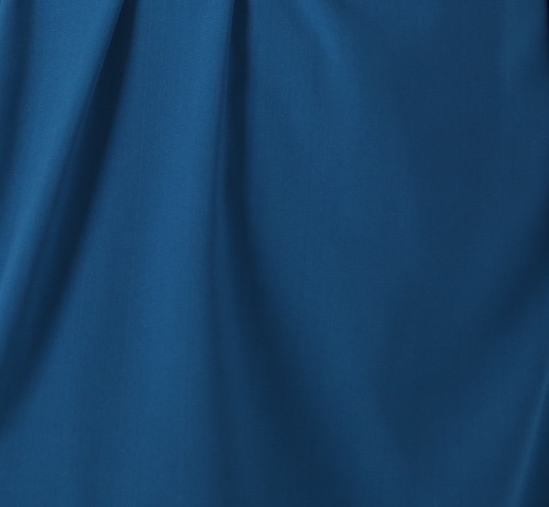Zoom into high quality and soft royal blue fabric by AYANI