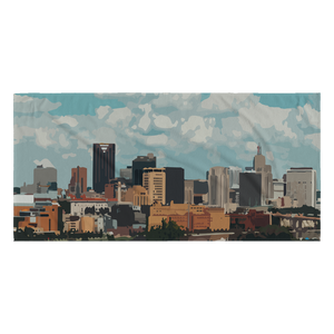 Saint Paul, MN Skyline Beach Towel