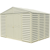 Duramax sheds Duramax 10.5ft x 8ft Woodbridge Vinyl Shed with Foundation