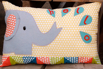 Elephant Cushion…and giveaway!