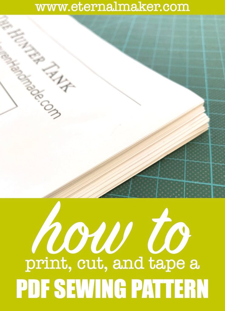 Top tips on how to print, cut & tape a PDF Sewing Pattern