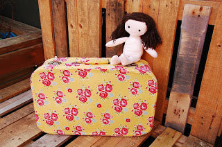 Doll's Bed in a Suitcase Sew Along Part 1 – Covering The Suitcase