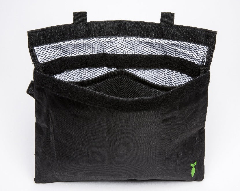 Large Smell Proof Bag With Velcro Seal - Front View Open