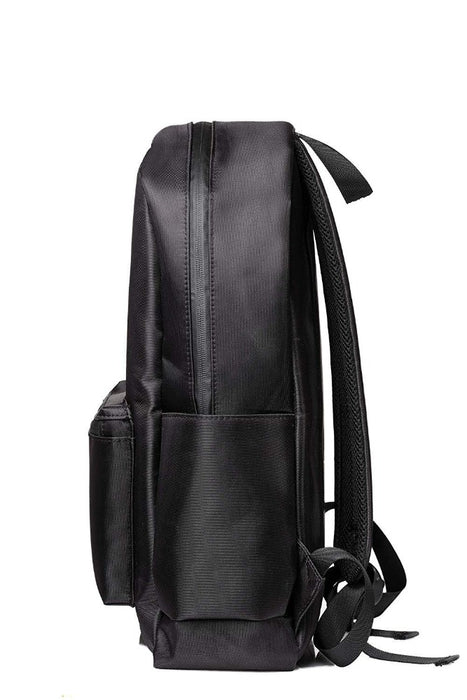 Black Smell Proof Backpack with Lock Side View