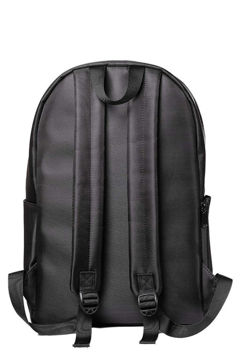 Black Smell Proof Backpack with Lock Back View