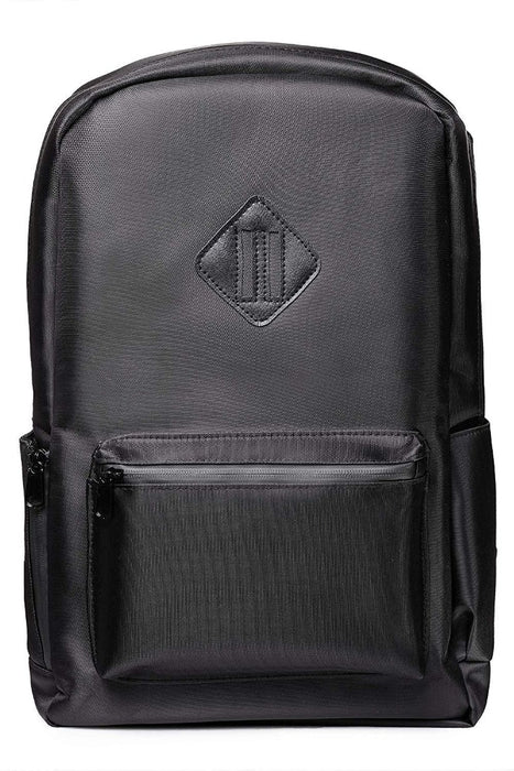 Black Smell Proof Backpack with Lock Front View