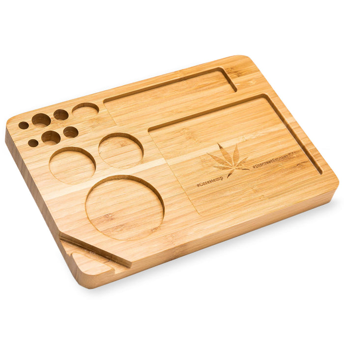 Bamboo Rolling Tray Front View Alternative, bamboo rolling tray, natural bamboo tray, raw bamboo rolling tray, raw rolling tray wood, bamboo tray, inexpensive rolling tray, rolling tray for sale, unique rolling trays, blunt rolling tray, blunt tray, cool rolling tray, small rolling tray, weed rolling tray