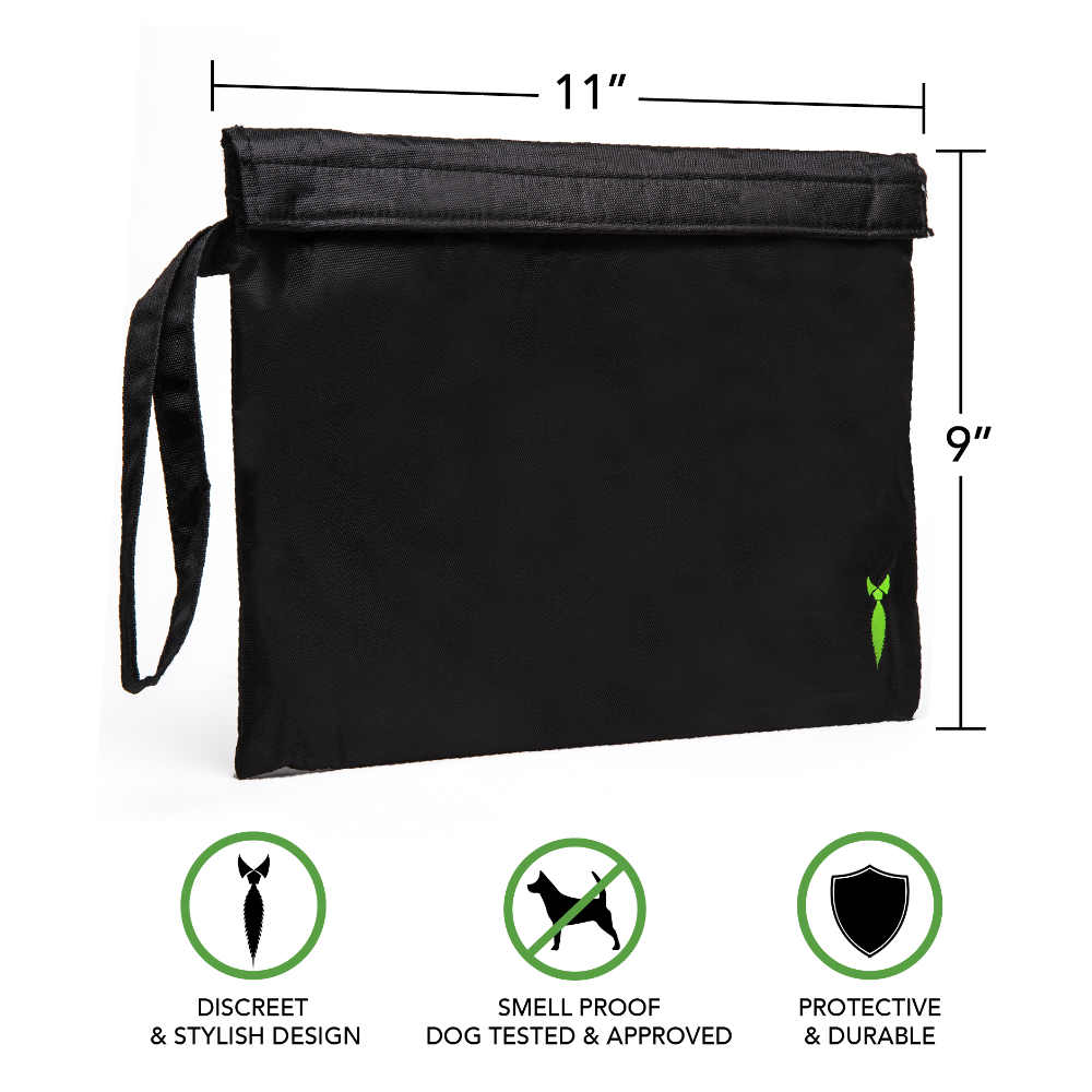 Large Smell Proof Bag 11x9  - Velcro seal 100% Odor Locking