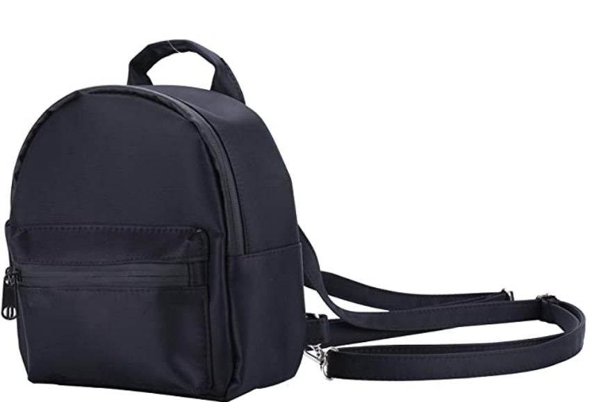 Black Smell Proof Mini Backpack With Secret Lock