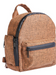 Brown Smell Proof Hemp Mini Backpack With Secret Lock - Front View