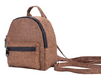 Brown Smell Proof Hemp Mini Backpack With Secret Lock - Front View Alternative