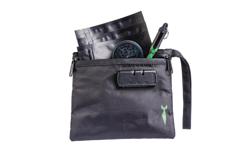 Small Smell Proof Bag With Lock - Front View Open