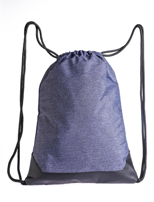 Smell Proof Drawstring Backpack With Lock - Front View Full