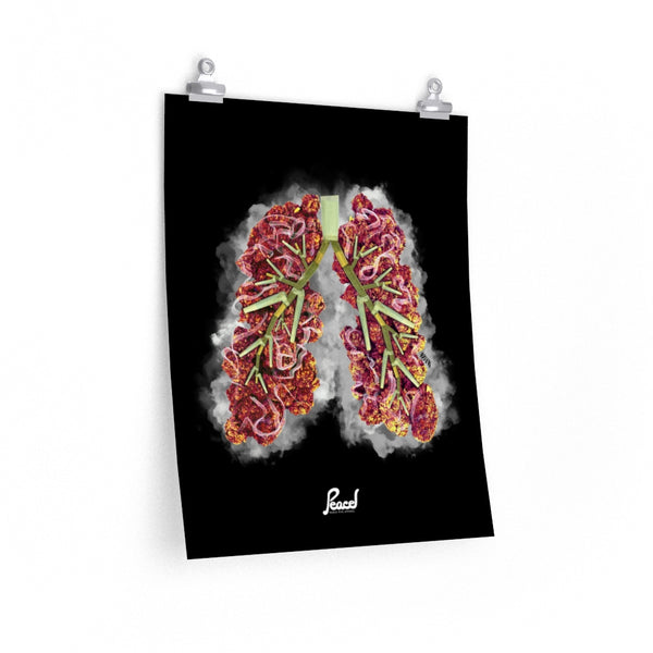 Chronic Bronchitis Matte Poster - Black