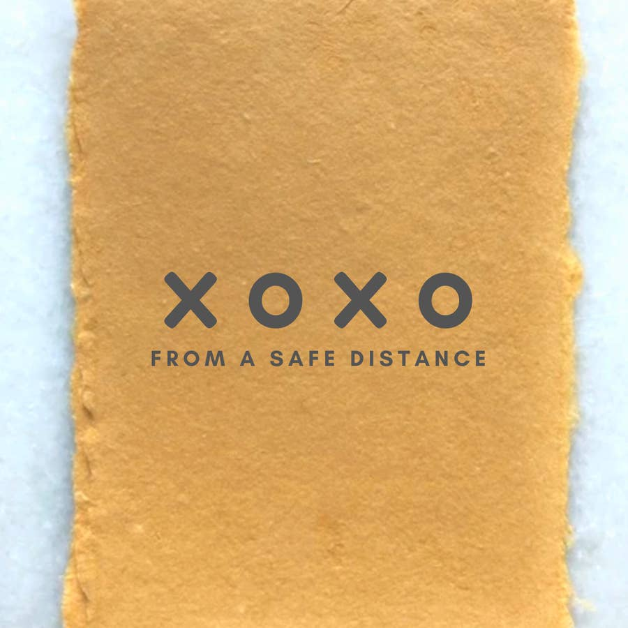 COVID19 GREETING CARD: XOXO From A Safe Distance