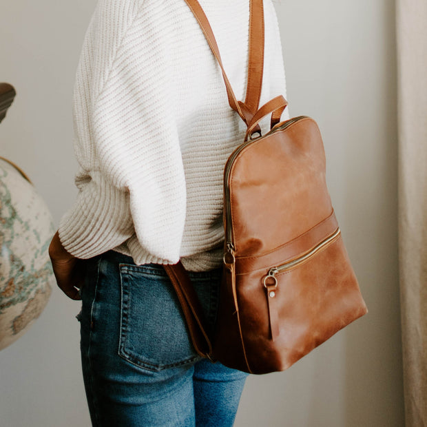 Leather Backpack Purse 1
