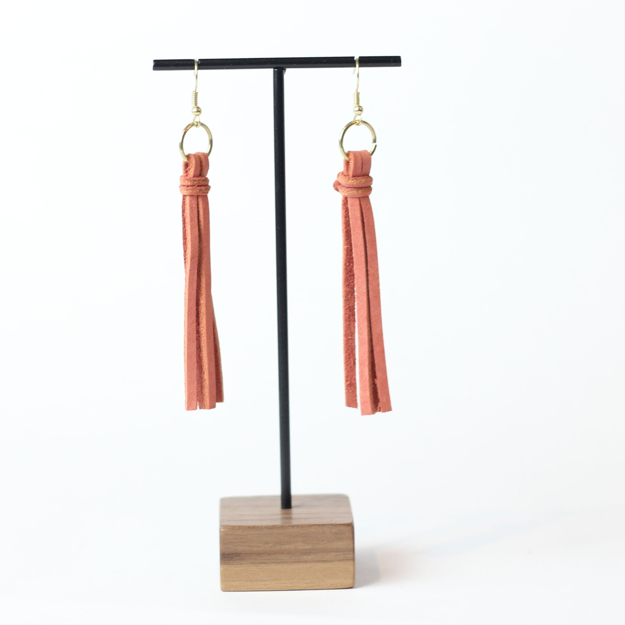 Leather Tassel Earring