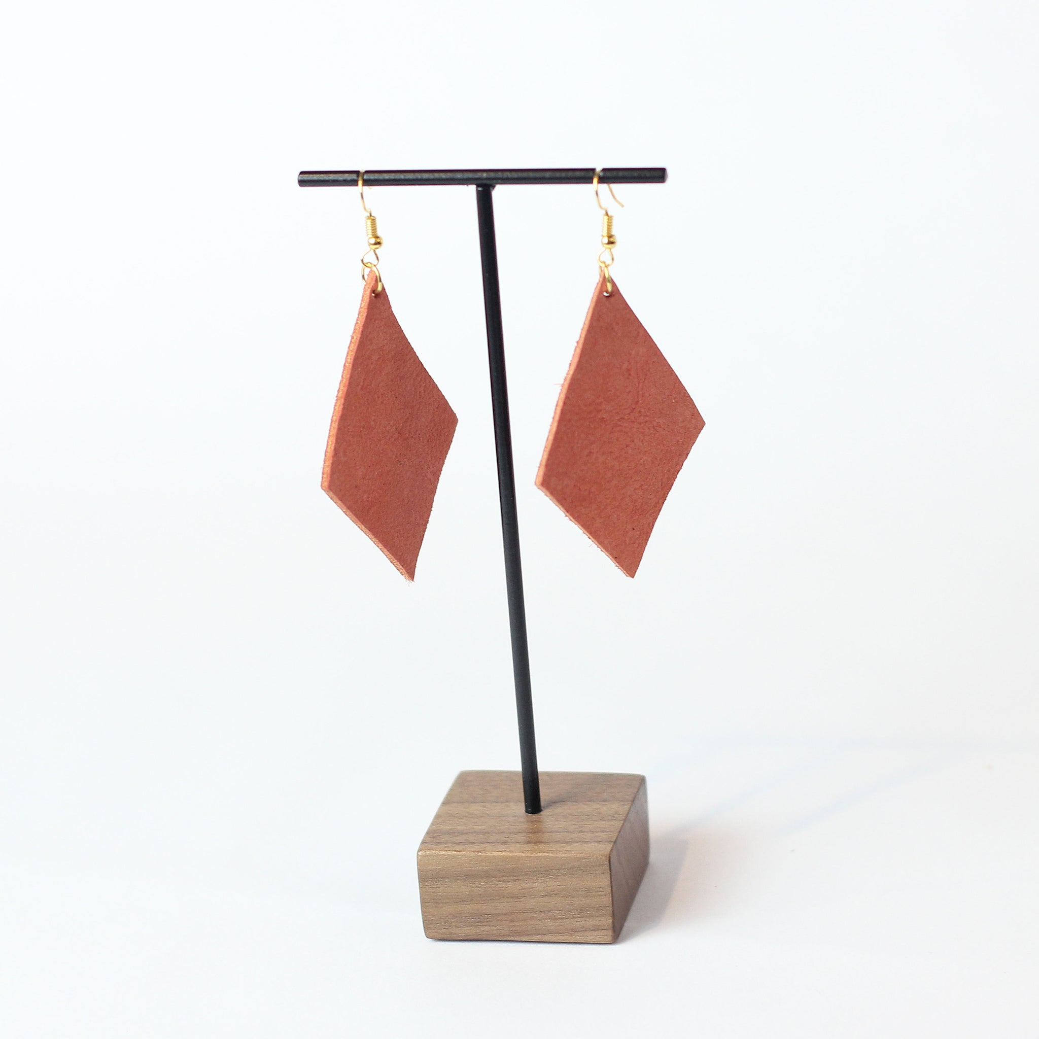 Salana Leather Earring - Coral