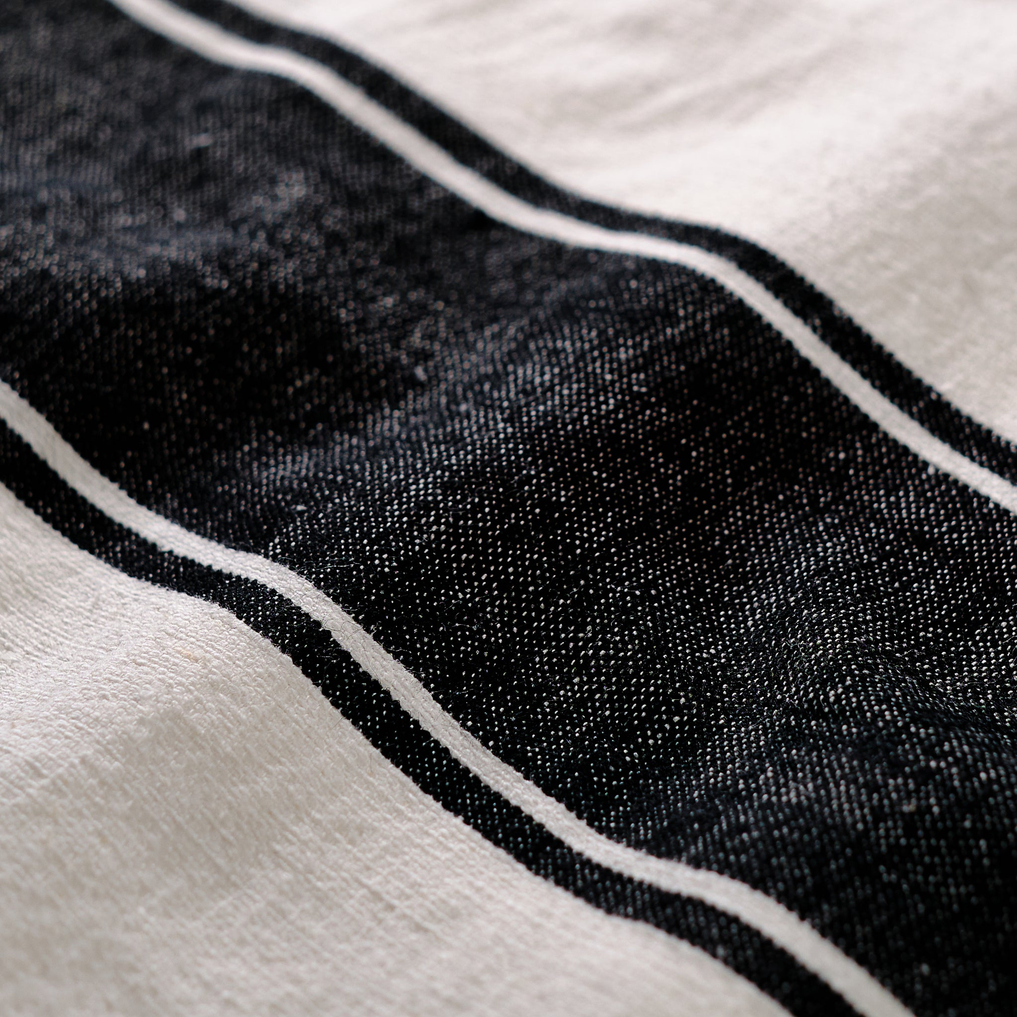 Handloomed Table Runner - Black