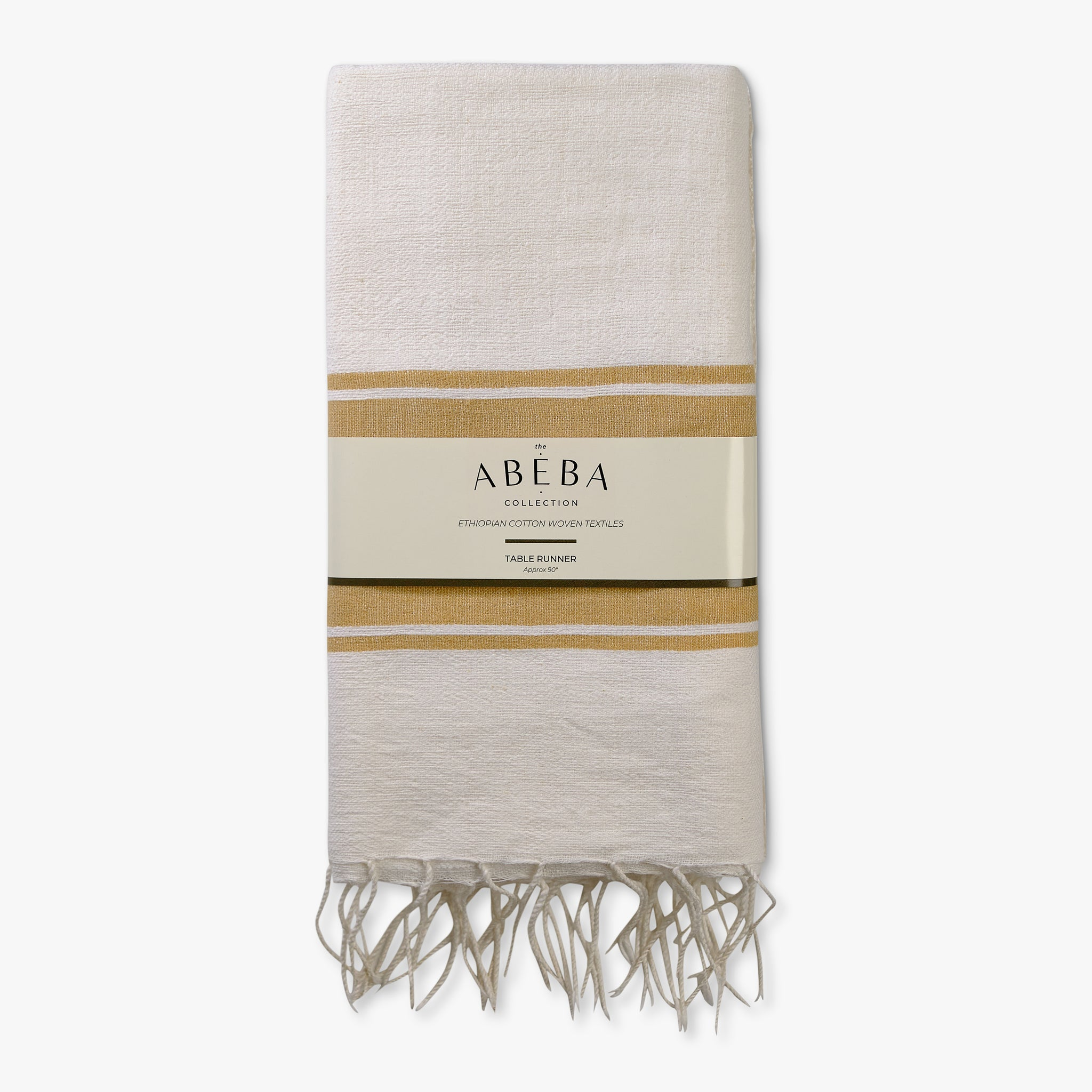Handloomed Table Runner - Sand