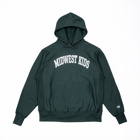 Midwest Kids RW Hooded Sweatshirt (Green)