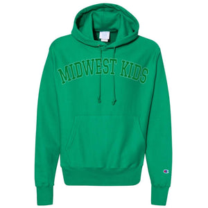 MIDWEST KIDS RW STITCHED HOODED SWEATSHIRT (GREEN/GOLD)