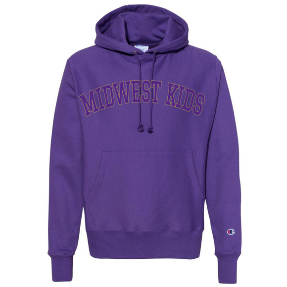 MIDWEST KIDS RW STITCHED HOODED SWEATSHIRT (PURPLE/GOLD)