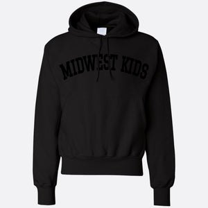 MIDWEST KIDS RW STITCHED HOODED SWEATSHIRT (BLACK/BLACK)
