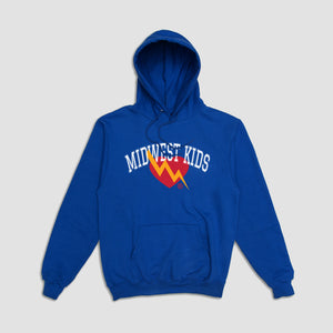 Midwest Kids x Classic Heart Logo Hoodie (Blue)