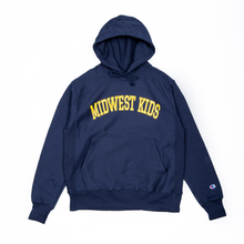 Load image into Gallery viewer, Midwest Kids Hooded Sweatshirt (Navy)